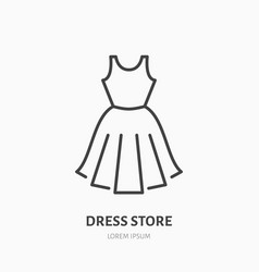 dress store flat line icon women apparel evening vector image