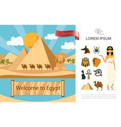flat egypt tourist concept vector image