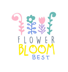 Flower bloom best logo template element vector