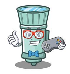 Gamer flashlight cartoon character style vector