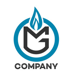 gas mg letter logo vector image