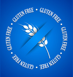 Gluten free sign vector