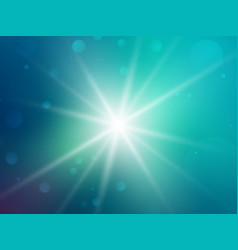 green rays star bokeh background vector image