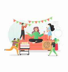 group people celebrating corporate party vector image