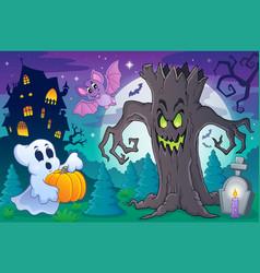 Halloween topic scene 6 vector