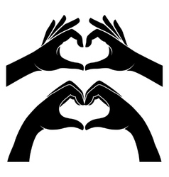 Hands in form of heart vector image