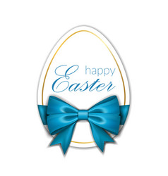 happy easter background lettering egg greeting vector image