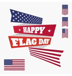 Happy Flag Day badge vector image