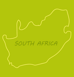 high detailed map - south africa vector image