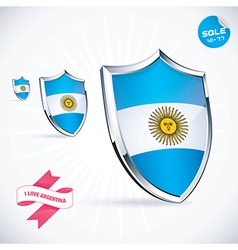 I Love Argentina Flag vector