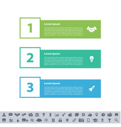 Infographic design business concept with 3 steps vector