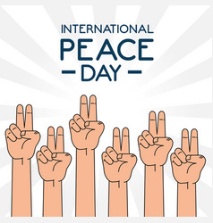 international peace day design vector image