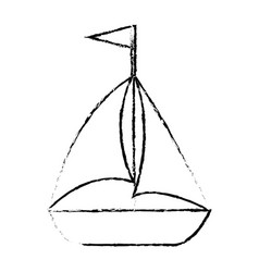 Isolated sailboat icon vector