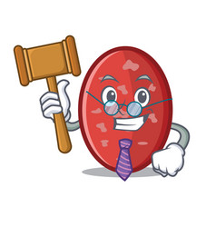 Judge salami mascot cartoon style vector