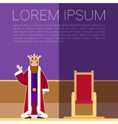 King square Banner vector image