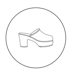 klogs icon in outline style isolated on white vector image