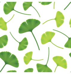 Leaves of ginkgo bilboa seamless vector