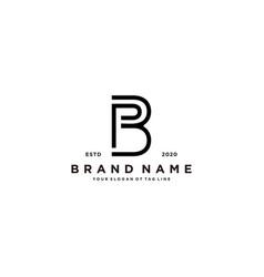 Letter bp logo design vector