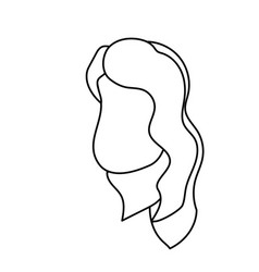 Line avatar woman face with hairstyle design vector