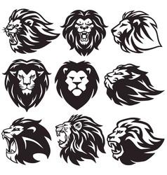 lion logo set collection package premium vector image