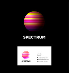 Logo spectrum color planet vector
