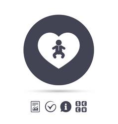 Love baby infant icon toddler boy symbol vector