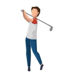 man golfer playing avatar vector image