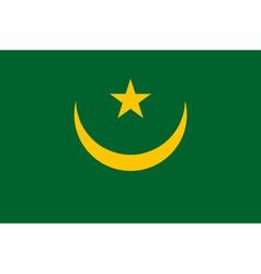 mauritanian flag vector image
