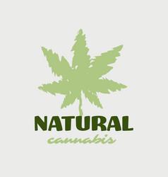 Medical cannabis or marijuana leaf ganja legalize vector