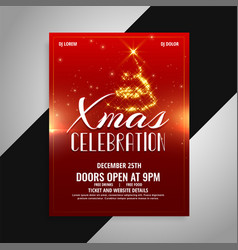 merry christmas party celebration poster design vector image