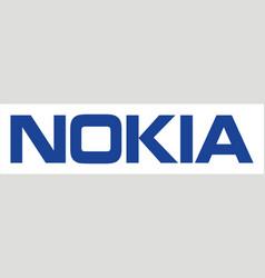 nokia mobile logo vector image
