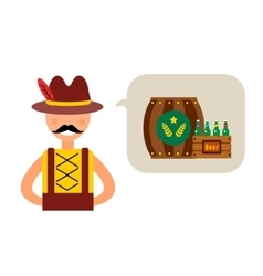 Oktoberfest german man vector image