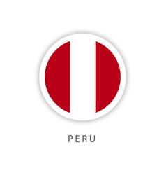 Peru circle flag template design vector