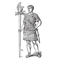 Roman empire vintage engraving vector