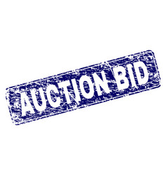 scratched auction bid framed rounded rectangle vector image