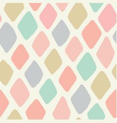 Seamless repeat design hand drawn pastel vector