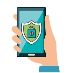security mobile app virtual vector image