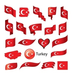 set of flags for Turkey vector image