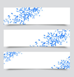 set three modern geometric banners vector image