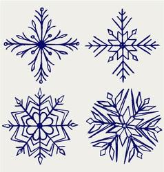 Snowflake winter vector image