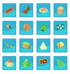 Sri lanka icon blue app vector