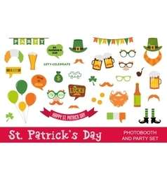 St Patricks Day design elements set icons vector image