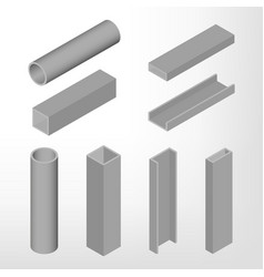 steel beam isometric vector image