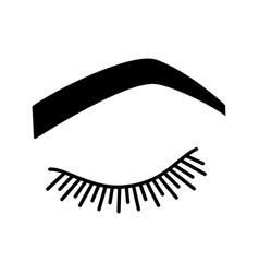 Steep arched eyebrow shape glyph icon vector