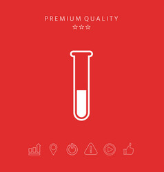 test-tube icon symbol vector image