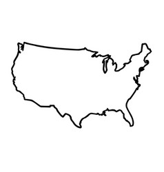 Usa broad outline map vector