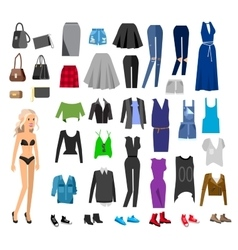 Woman Clothes Wardrobe vector image
