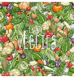 Different colorrful vegetables vector