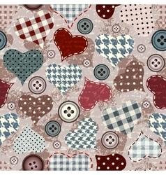 Grunge hearts background vector image