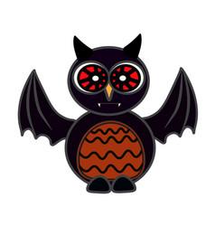 halloween owl bat art face isolate on white vector image vector image